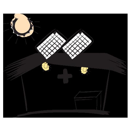 sistemas solares para clinicas